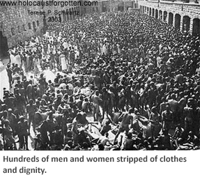 Hundreds stripped of clothes and dignity
